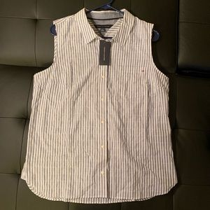 Tommy Hilfiger blue & white stripper shirt